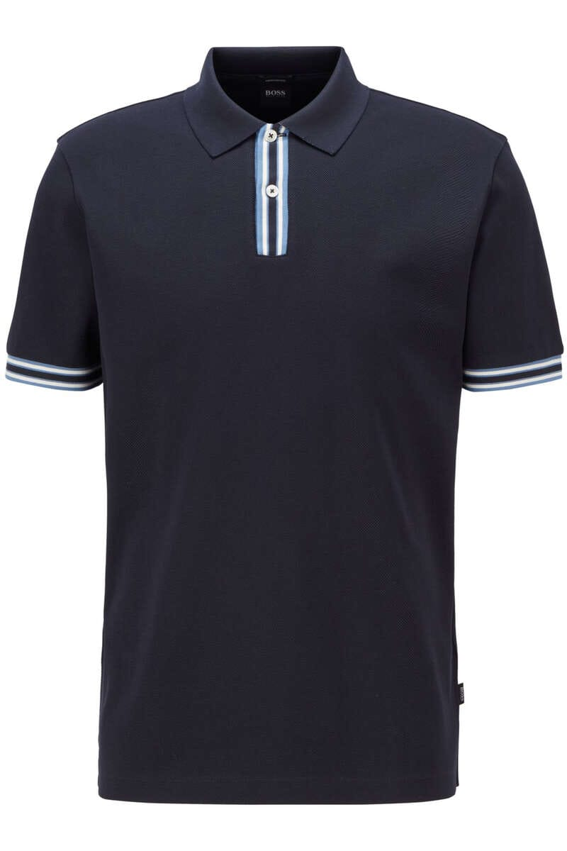 BOSS Regular Fit Poloshirt dunkelblau, Einfarbig XL