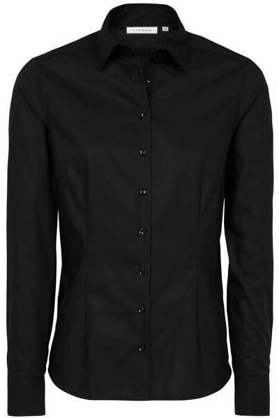 ETERNA Modern Classic Bluse schwarz, Einfarbig
