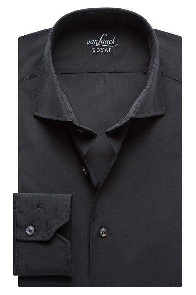 van Laack Hemd - Tailor Fit - schwarz, Einfarbig