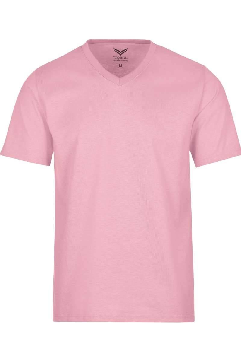 TRIGEMA T-Shirt V-Ausschnitt rosa, einfarbig
