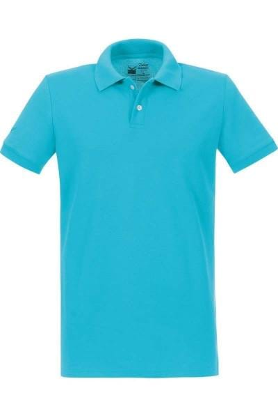 TRIGEMA Poloshirt - Polo, Slim Fit - azur, Einfarbig
