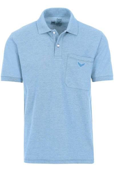 TRIGEMA Comfort Fit Poloshirt hellblau, melange