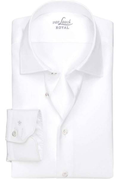 van Laack Tailor Fit Hemd weiss, Einfarbig