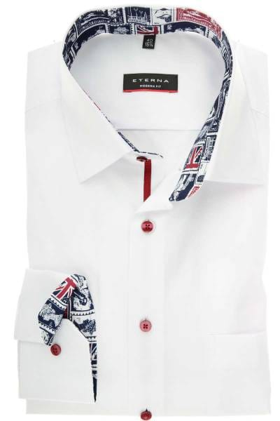 newest 4554f d3e51 ETERNA Modern Fit Hemd weiss, Einfarbig