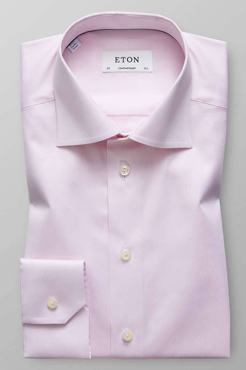 ETON Contemporary Fit Hemd rosa, Einfarbig