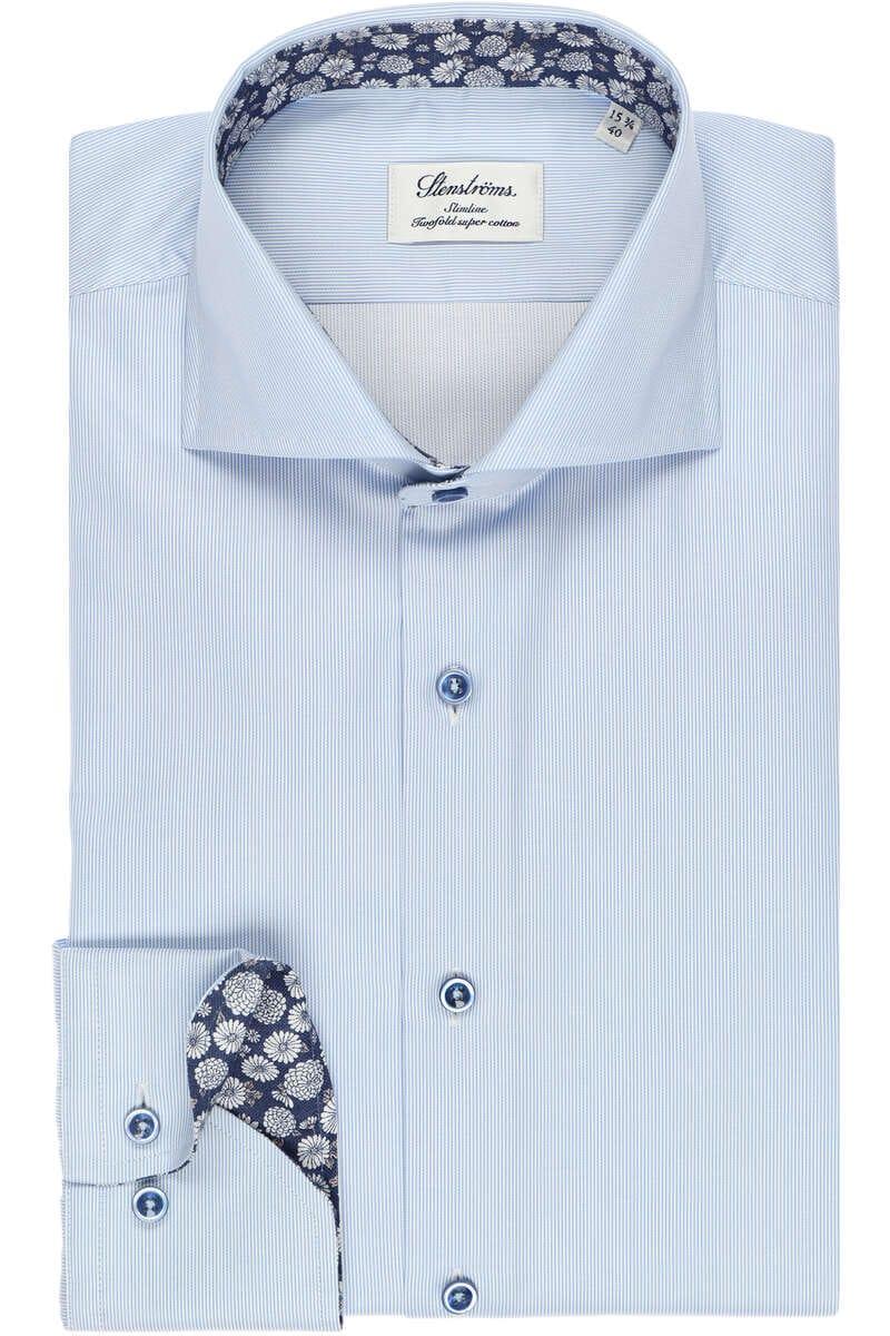 Stenströms Slimline Hemd blau/weiss, Feinstreifen 44 - XL