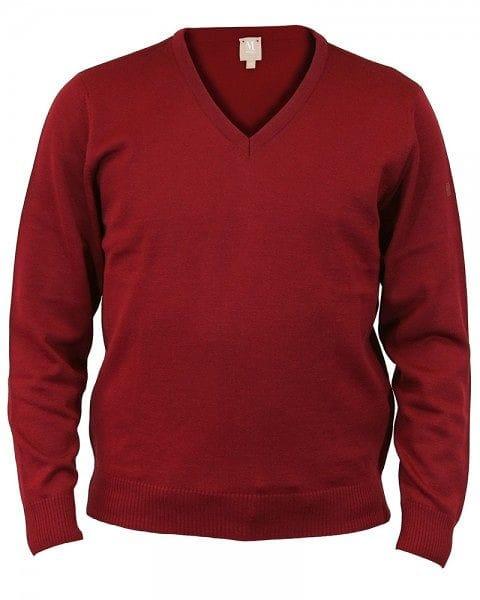 MAERZ Strickpullover V-Ausschnitt Pullover - bordeaux