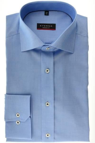 Eterna Hemd - Modern Fit - blau, Einfarbig
