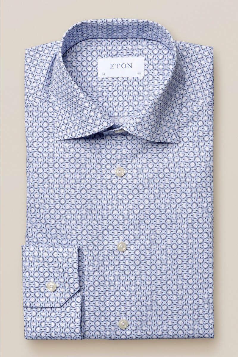 ETON Contemporary Fit Hemd blau/weiss, Gemustert 39 - M