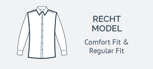Overhemden met Borstzak Recht Model