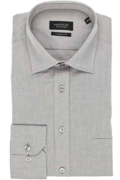 Hatico Modern Fit Hemd grau, Einfarbig