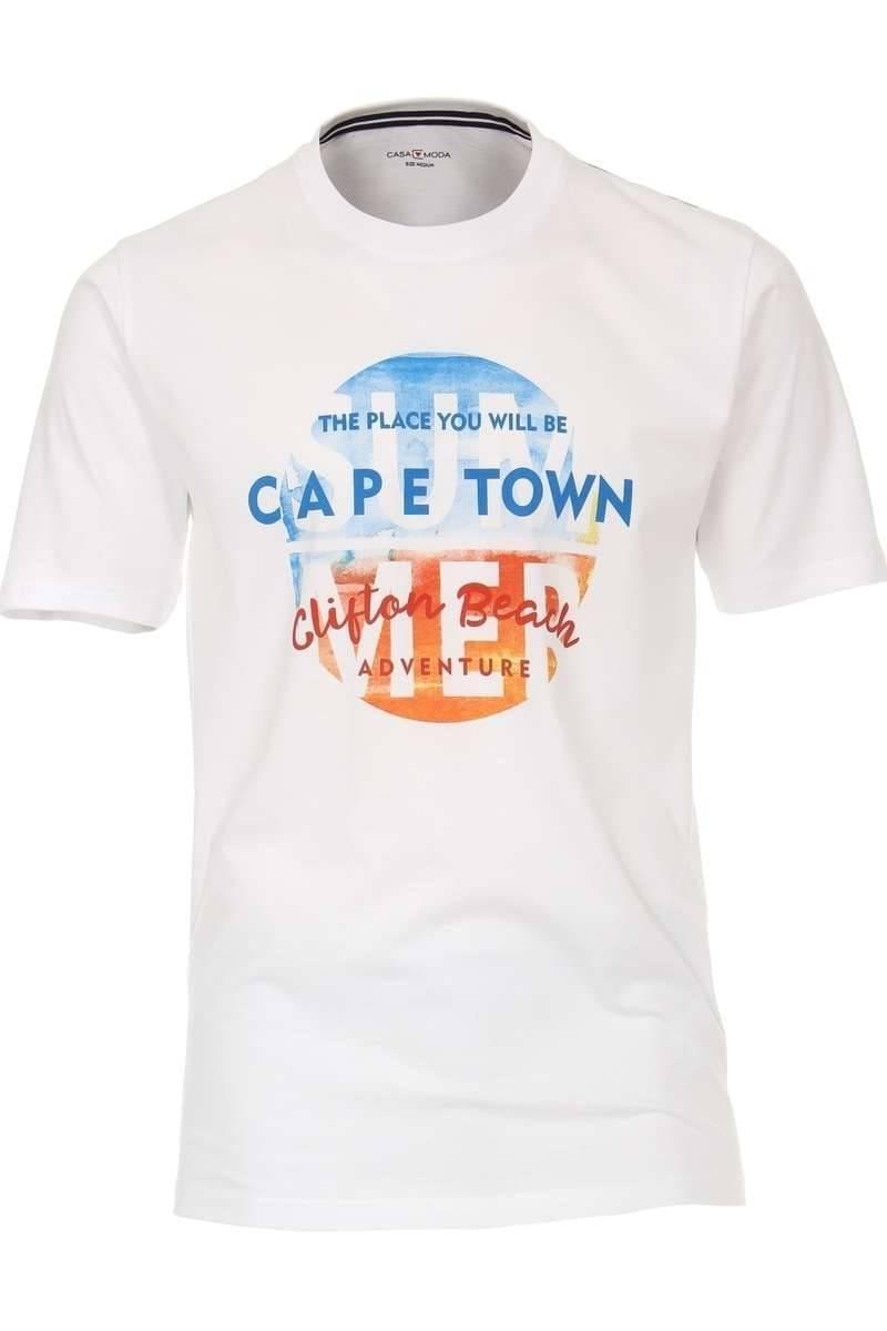 Casa Moda T-Shirt Rundhals weiss, einfarbig