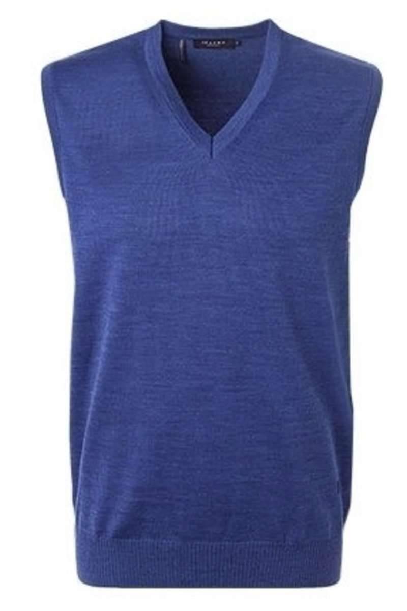 MAERZ Classic Fit Pullunder blau, einfarbig