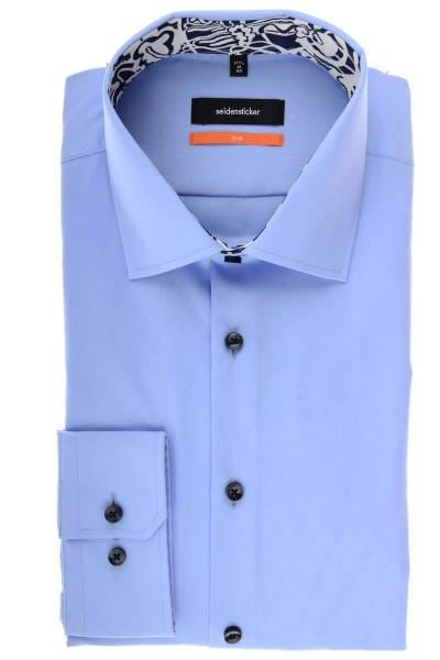Seidensticker Slim Fit Hemd hellblau, Einfarbig