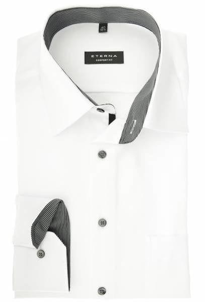 Eterna Comfort Fit Hemd weiß, Einfarbig