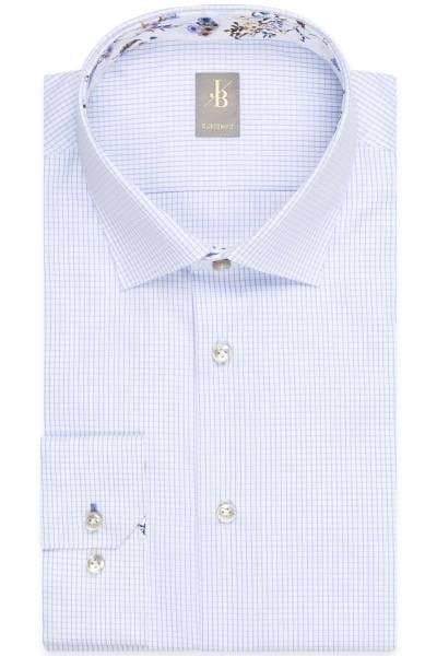 Jacques Britt Custom Fit Hemd blau/weiss, Kariert