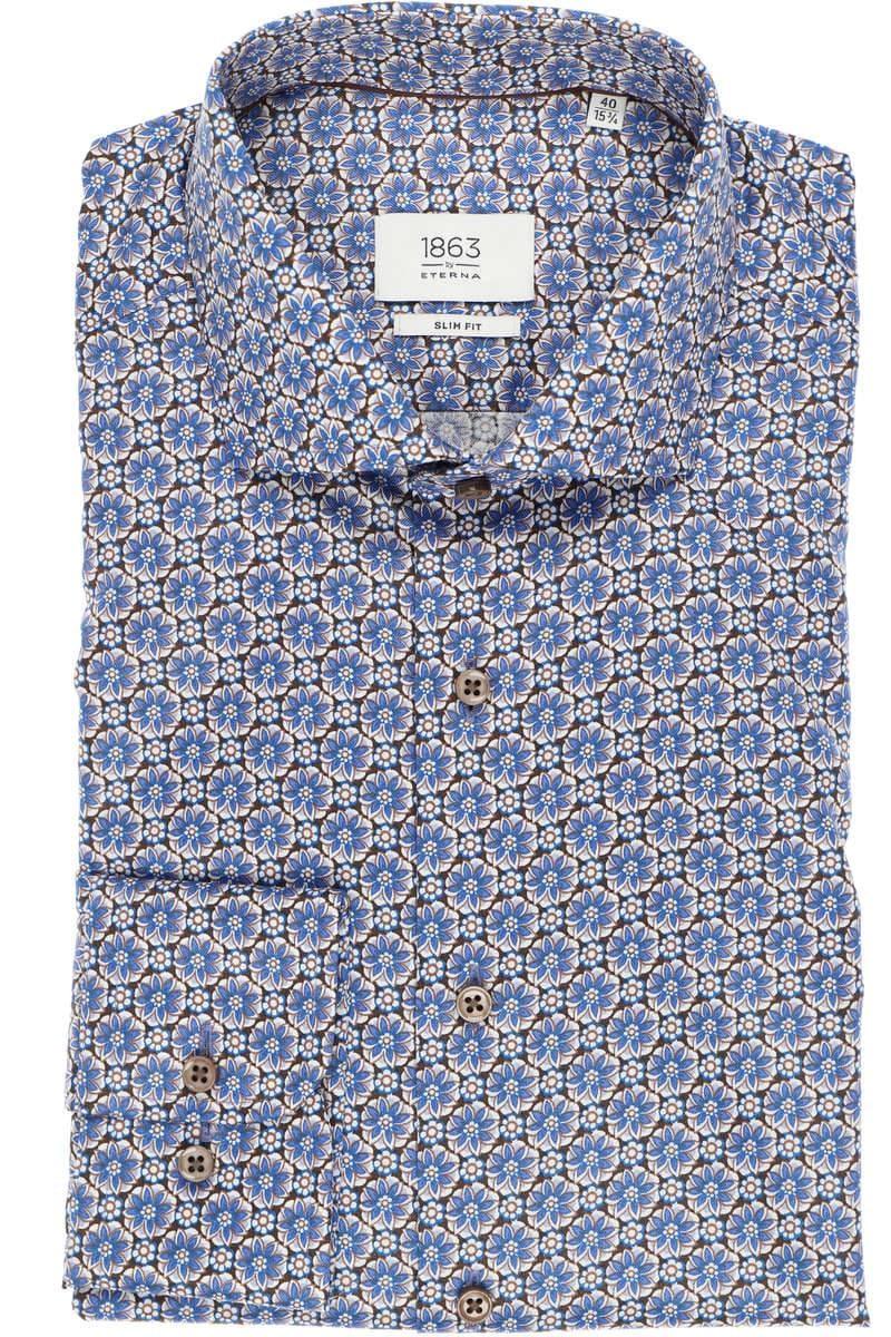 1863 Premium Hemd von ETERNA blau in SLIM FIT ohne