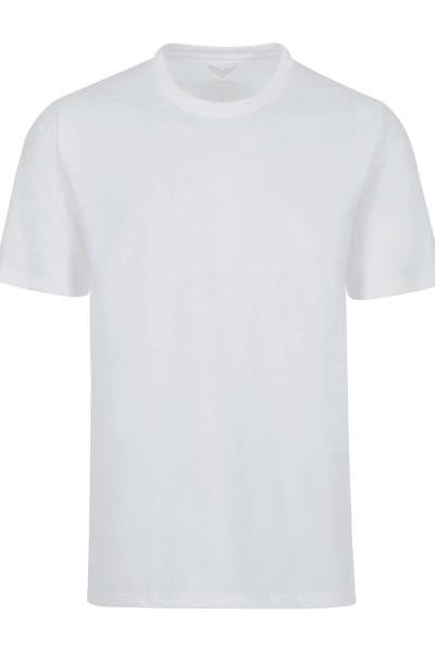 TRIGEMA T-Shirt Rundhals weiss, einfarbig