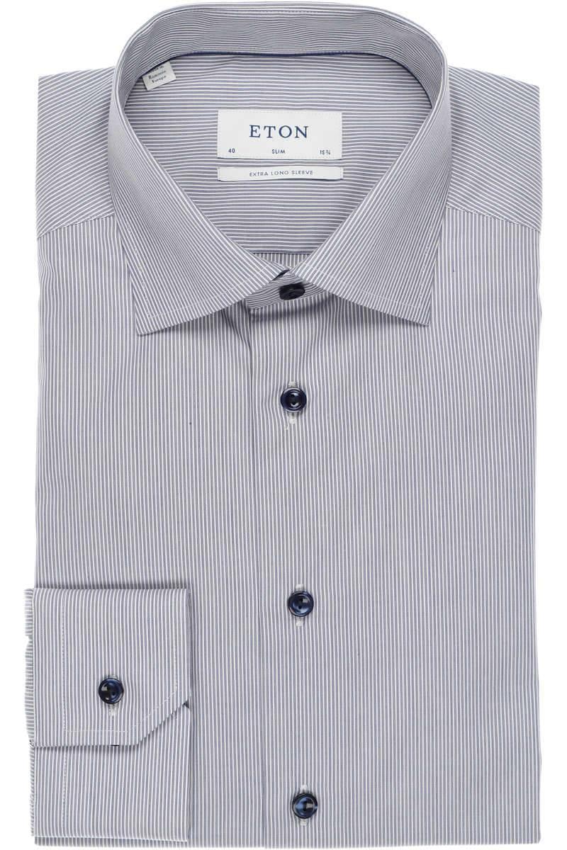 ETON Slim Fit Hemd marine/weiss, Feinstreifen