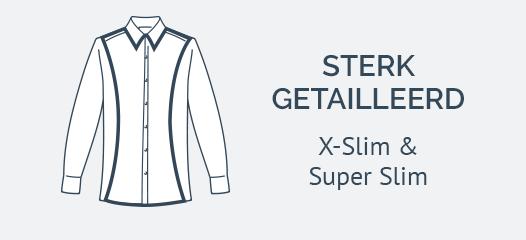 Jersey Overhemden Super Slim Fit