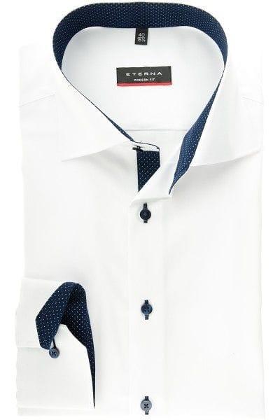 Eterna Hemd - Modern Fit - weiss, Einfarbig