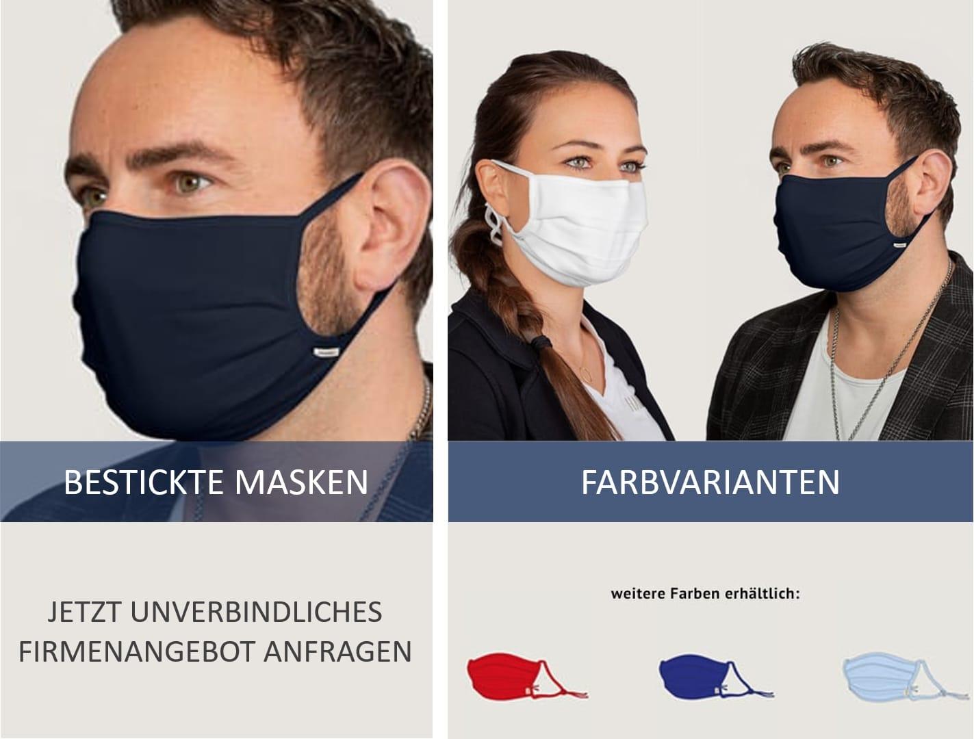Face masks of German textile brands
