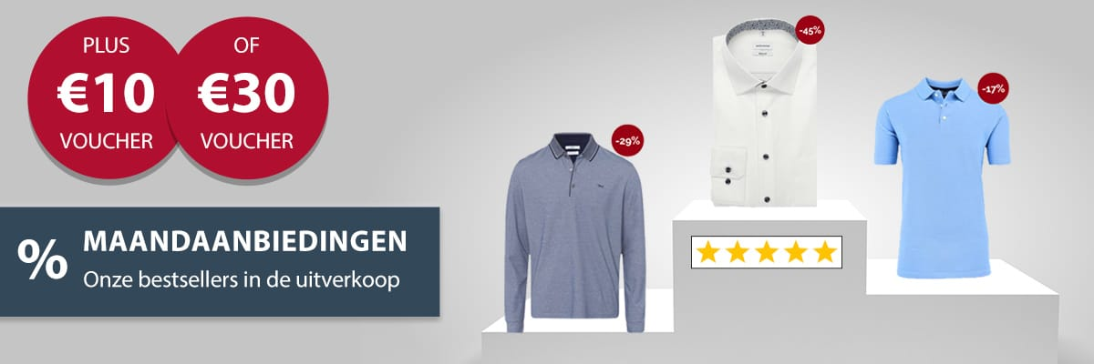 Overhemd maandaanbiedingen