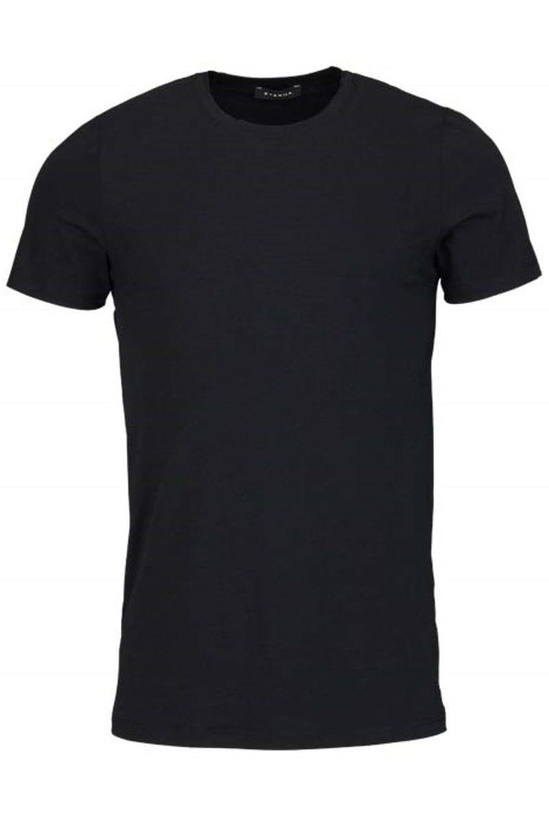 eterna t shirt schwarz einfarbig mit rundhals. Black Bedroom Furniture Sets. Home Design Ideas