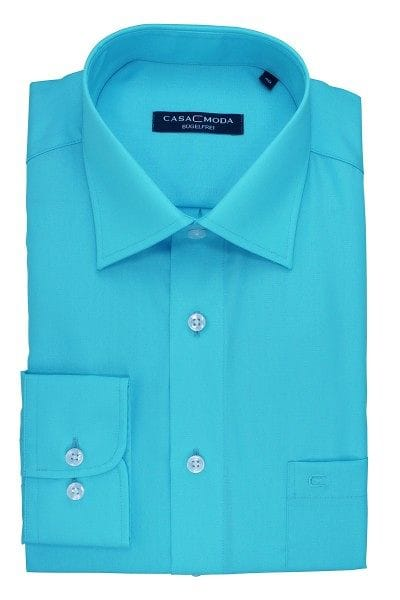 Casa Moda Hemd - Regular Fit - eisblau, Einfarbig