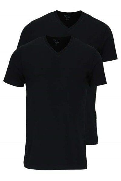 Venti T-Shirt - V-Ausschnitt - schwarz, Einfarbig