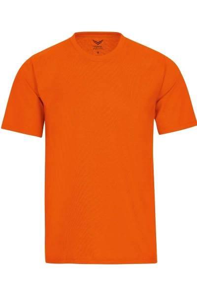 TRIGEMA T-Shirt Rundhals orange, einfarbig