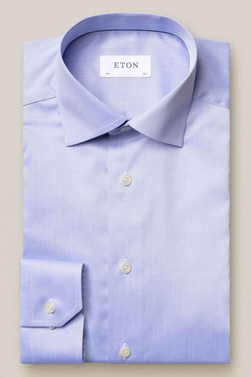 ETON Slim Fit Hemd blau, Einfarbig 40 - M