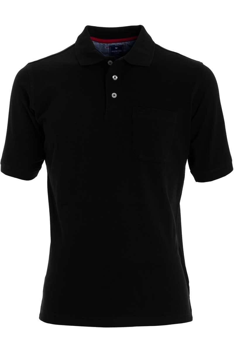 Redmond Casual Poloshirt schwarz, Einfarbig