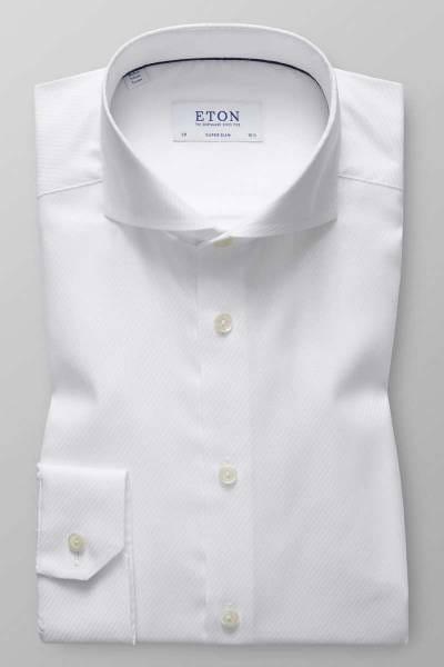 ETON Super Slim Hemd weiss, Nadelstreifen