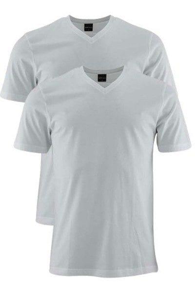 Marvelis T-Shirt - V-Ausschnitt - weiss, Einfarbig