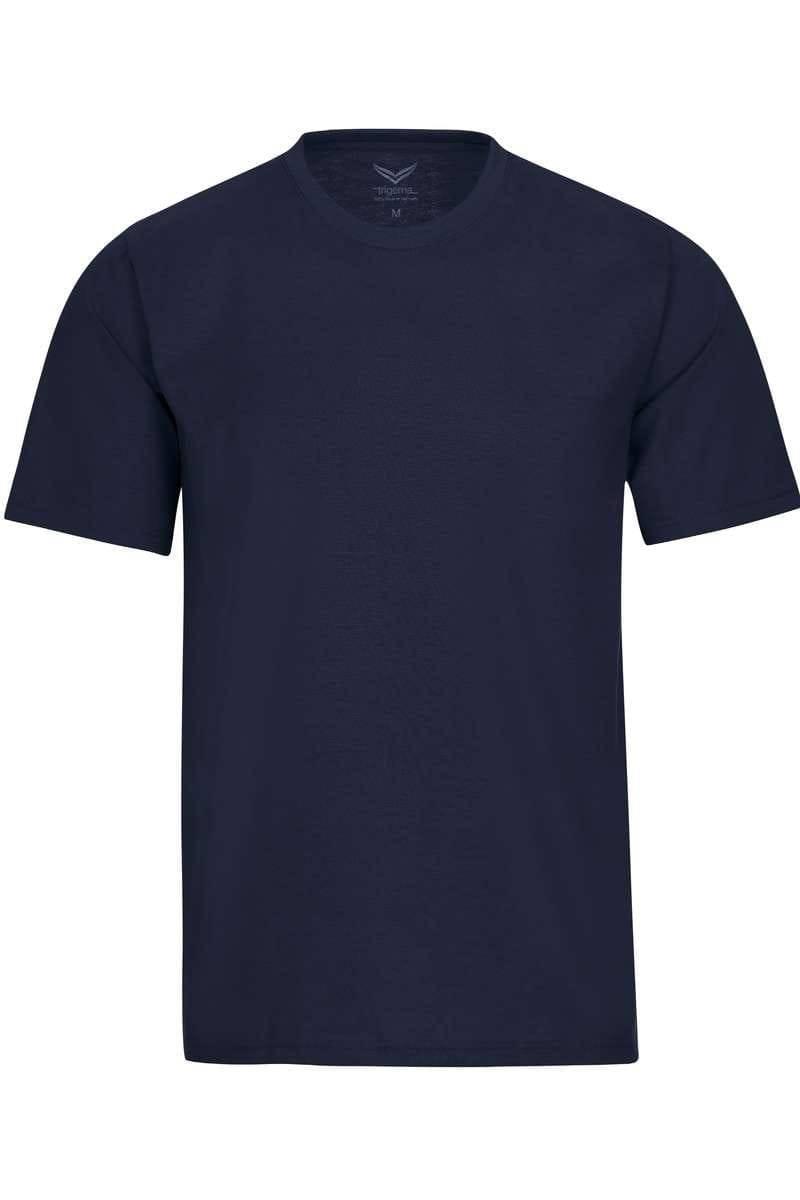 TRIGEMA T-Shirt Rundhals navy, einfarbig
