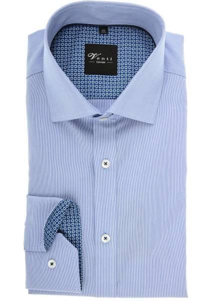 Venti Slim Fit Hemd marine/weiss, Feinstreifen