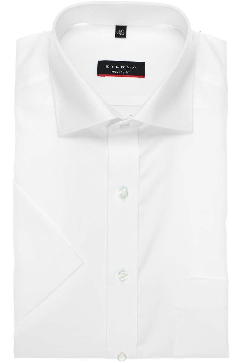 ETERNA  Modern Fit  1100 00 C187 Kurzarm Hemd Uni Weiß Popeline