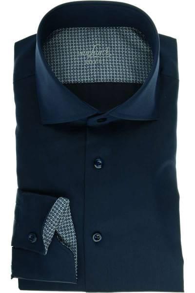 van Laack Tailor Fit Hemd dunkelblau, Einfarbig