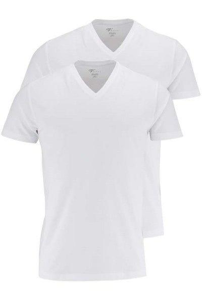 Venti T-Shirt - V-Ausschnitt - weiss, Einfarbig