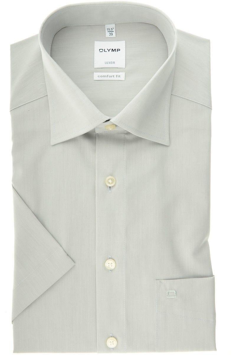 Olymp Luxor Comfort Fit Hemd silbergrau, Einfarbig